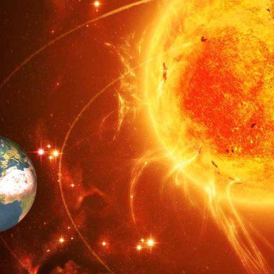Massive Sunspot Coming Towards Earth