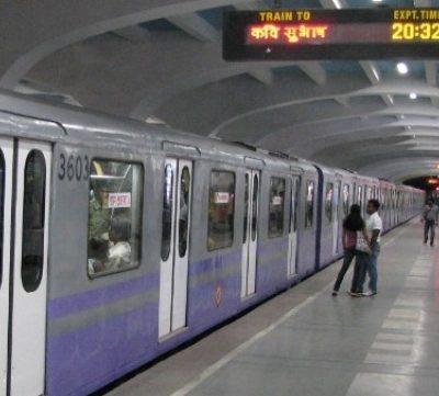 Durga Puja Metro Rail