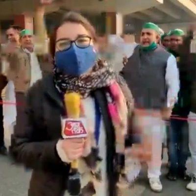 AajTak Reporter Anisha Mathur